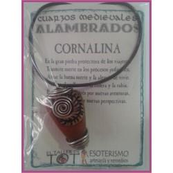 COLGANTE MEDIEVAL ALAMBRADO -*- CORNALINA