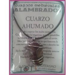 COLGANTE MEDIEVAL ALAMBRADO -*- CUARZO AHUMADO