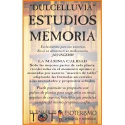DULCELLUVIAS -*- ESTUDIOS - MEMORIA