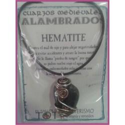 COLGANTE MEDIEVAL ALAMBRADO -*- HEMATITE
