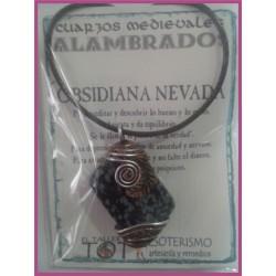 COLGANTE MEDIEVAL ALAMBRADO -*- OBSIDIANA NEVADA