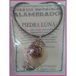 COLGANTE MEDIEVAL ALAMBRADO -*- PIEDRA LUNA