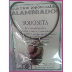 COLGANTE MEDIEVAL ALAMBRADO -*- RODONITA