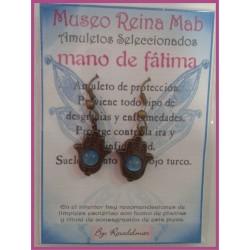 MAB PENDIENTES MANO DE FATIMA CON BOLA AZUL 01
