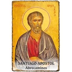 "Estampita ""Pergamino"" - ABRECAMINOS - SANTIAGO APOSTOL"