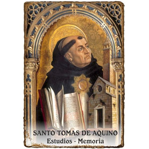 "Estampita ""Pergamino"" - ESTUDIOS MEMORIA - SANTO TOMAS DE AQUINO"