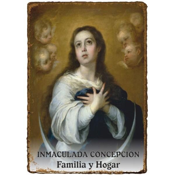 """Estampita """"Pergamino"""" - FAMILIA y HOGAR - INMACULADA CONCEPCIÓN"""