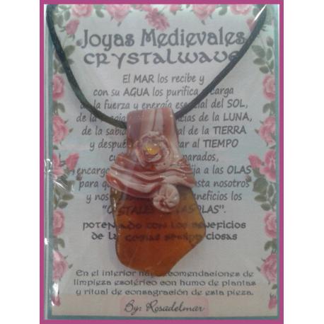 JOYA MEDIEVAL CRISTALWAVE - AMBAR - CITRINO 01