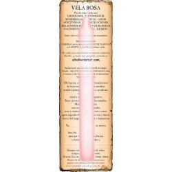 Vela ROSA 20cm. con guía y oración