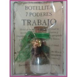 Botellita 7 PODERES -*- TRABAJO