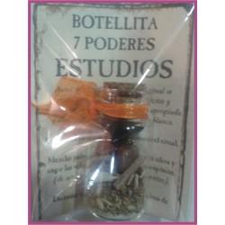 Botellita 7 PODERES -*- ESTUDIOS - MEMORIA
