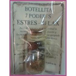 Botellita 7 PODERES -*- ESTRÉS - RELAJACIÓN