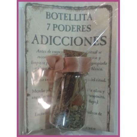 Botellita 7 PODERES -*- ADICCIONES