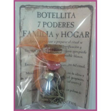 Botellita 7 PODERES -*- FAMILIA y HOGAR