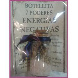 Botellita 7 PODERES -*- ENERGIAS NEGATIVAS