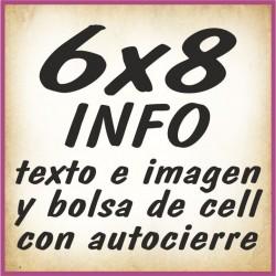 6x8 INFO texto e imagenes y bolsa cell autocierre