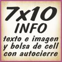 7x10 INFO texto e imagenes y bolsa cell autocierre