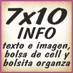 7x10 INFO texto e imagenes y bolsa cell autocierre y bolsita organza