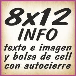 8x12 INFO texto e imagenes y bolsa cell autocierre