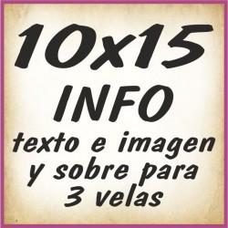 10x15 INFO texto e imagenes y sobre 3 velas