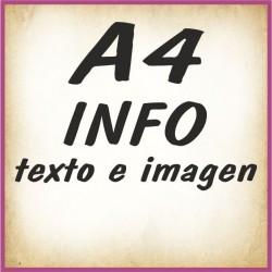 A4 INFO texto e imagenes