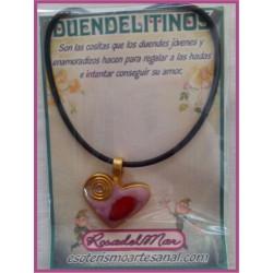 DUENDELITINO - Corazón y Coral Rojo - DL0005