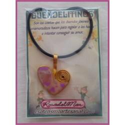 DUENDELITINO - Corazón y Cuarzo Rosa - DL0006