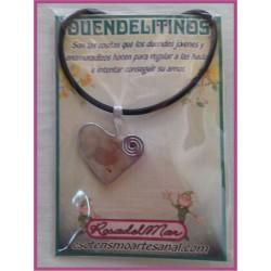 DUENDELITINO - Corazón y Cuarzo Rosa - DL0019