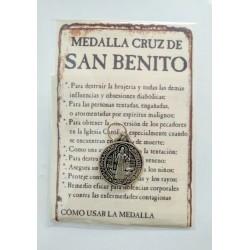 SAN BENITO - medalla cruz pequeña - colgante