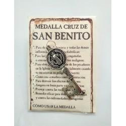 SAN BENITO - medalla cruz llave- colgante