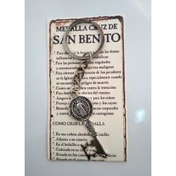 SAN BENITO - medalla cruz llave- LLAVERO