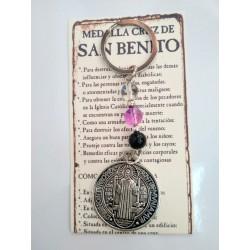 SAN BENITO - medalla cruz pequeña - LLAVERO