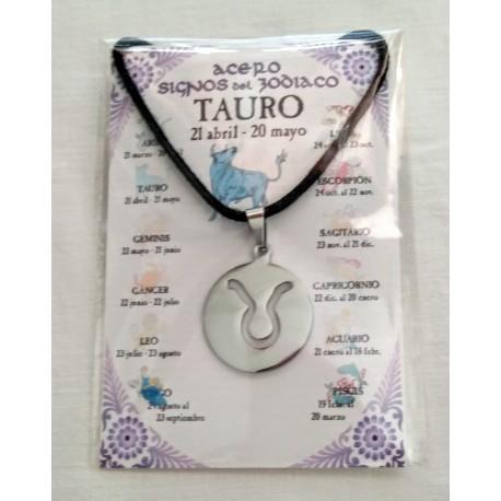 TAURO - ZODIACO ACERO - colgante