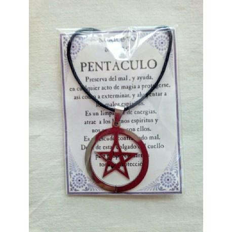 AMULETO ACERO - PENTACULO - circulo - 01
