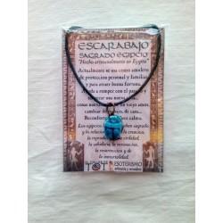 ESCARABAJO EGIPCIO -azul - pequeño - 01
