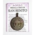 AMULETO ACERO - MEDALLA SAN BENITO -grande - 03