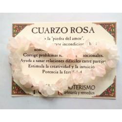 PULSERA chips - CUARZO ROSA