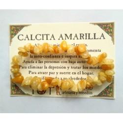 PULSERA chips - CALCITA AMARILLA