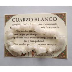 PULSERA chips - CUARZO BLANCO