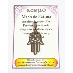 AMULETO ACERO - Mano de Fatima - 02