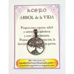 AMULETO ACERO -Arbol de la Vida - 01