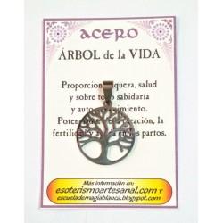 AMULETO ACERO -Arbol de la Vida - 02
