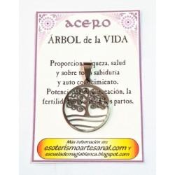 AMULETO ACERO -Arbol de la Vida - 04