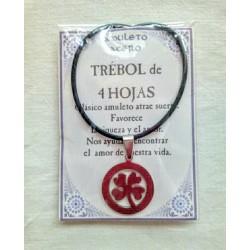 AMULETO ACERO - Trebol - CIRCULO -pequeño - 02