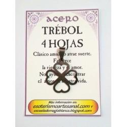 AMULETO ACERO - Trebol - troquelado - 03