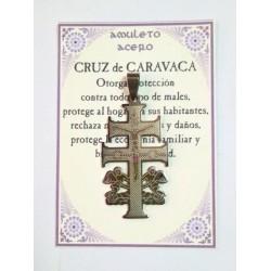 AMULETO ACERO - Cruz de Caravaca