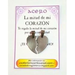 AMULETO ACERO - Corazón Partido