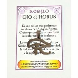 AMULETO ACERO - OJO de HORUS - Troquelado - 03