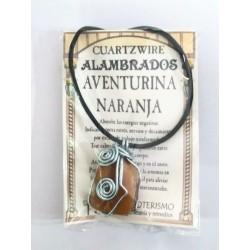 COLGANTE CUARTZWIRE ALAMBRADO - AVENTURINA NARANJA