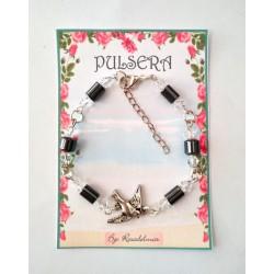 PULSERA  MINERAL - Hematite con Paloma